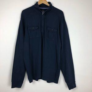 "Brooks Brothers ""346"" Lomg sleeve 1/4 Zip Size XXL"